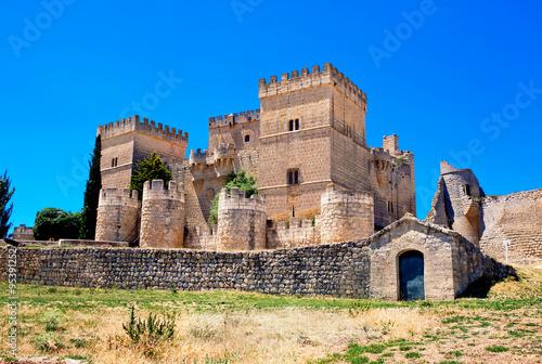 Castle of Ampudia, Palencia province, Castile and Leon, Spain