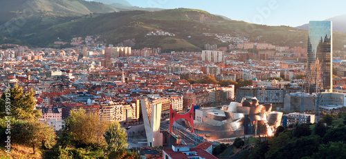 Fotografie, Obraz  View of city Bilbao, Spain