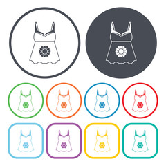 Vector illustration of underwear icon