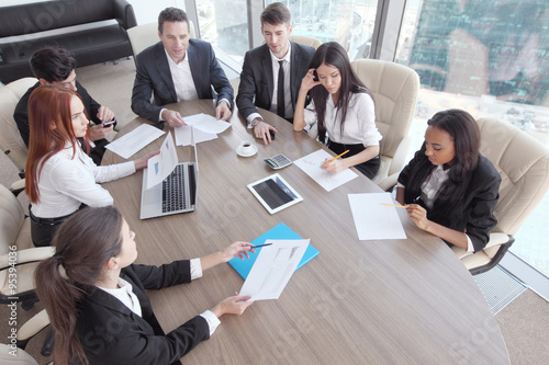 Canvas Print Business meeting