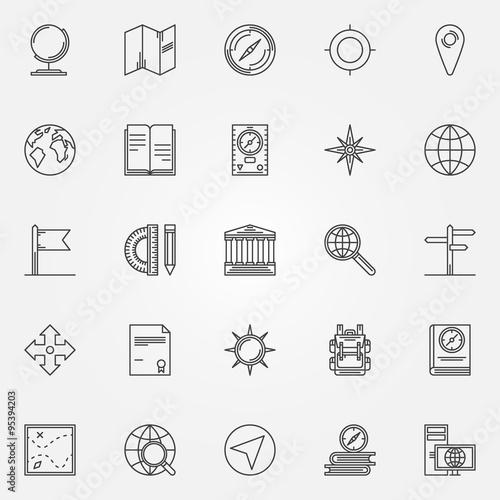 Fotografía  Geography icons set