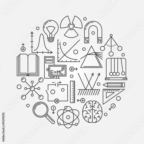 Fotografie, Obraz  Physics round illustration