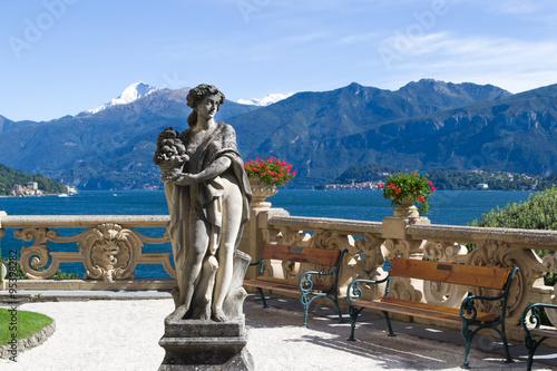 Villa del Balbianello.  Lake Como. Italy. Wallpaper Mural