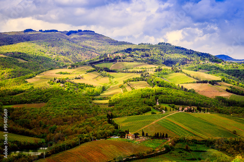 Foto op Aluminium Beijing Rural landscape of Chianti, Tuscany.