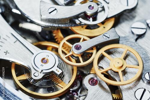 Photo  gear clock mechanism