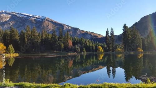 Lac des mines d'or - Morzine - haute-savoie Tablou Canvas