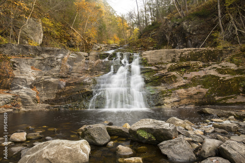 Main waterfall at Kent Falls State Park in western Connecticut.