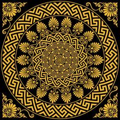 Fototapetavector Traditional vintage gold Greek ornament Meander