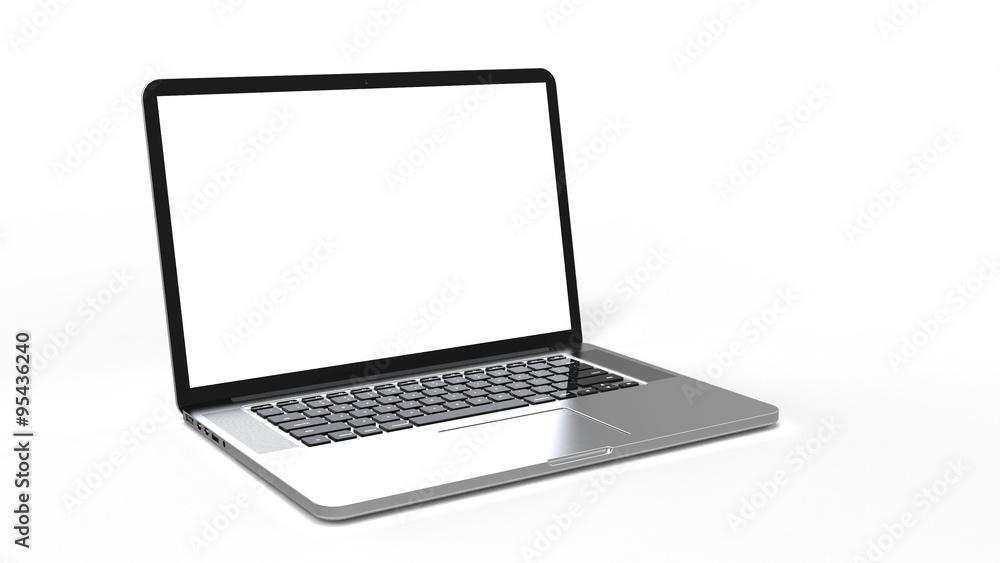 Fototapeta laptop computer on white background