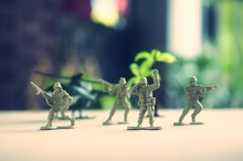 Miniature Toy Soldiers On Board