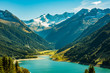 canvas print picture - Bergsee in Tirol