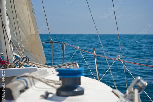 Garden Poster Sailing Yacht. Sailing. Yachting. Tourism. Luxury Lifestyle