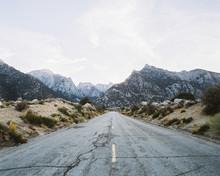 Road Through Mount Whitney, California, America, USA