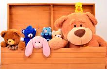 Child Trunk With A Big Teddy B...
