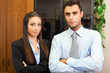 Couple of business people