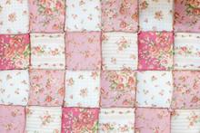 Pink Rose Quilt Background