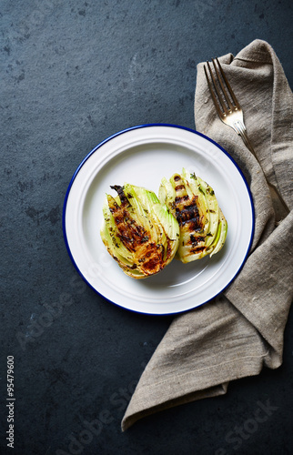Grilled fennel on a plate