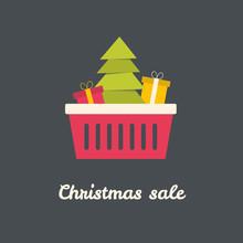 Christmas Shoping Basket With ...