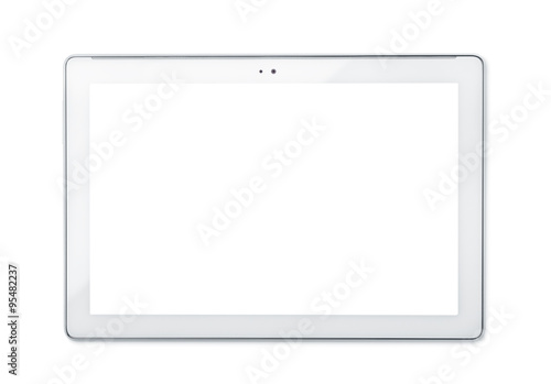 Front view of tablet PC
