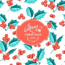 Mistletoe Holiday Card.