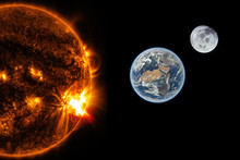 Sun, Earth And The Moon - Elem...