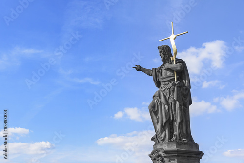 Foto Statue of St. John the Baptist.