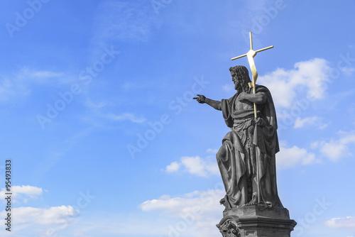 Leinwand Poster Statue of St. John the Baptist.