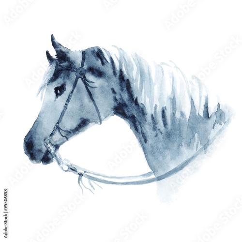 akwarela-kowboj-zachodniej-glowy-zachodniej-z-uzde-reka-rysunkowa-ilustracja-na-bielu