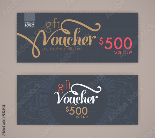 gift voucher template. - Buy this stock vector and explore similar ...