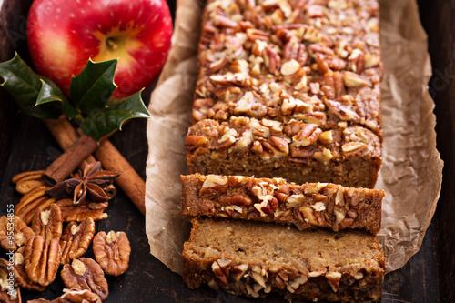 Fotografie, Obraz  Gingerbread apple loaf cake