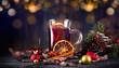 leckerer Glühwein mit Weihnachtsdeko