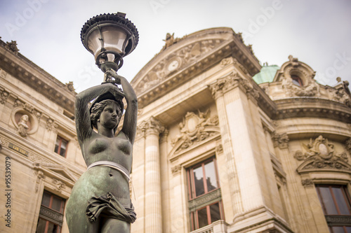 Canvas Print statue at Palais Garnier, Paris