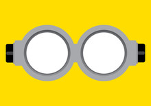Vector Illustration Of Goggle ...