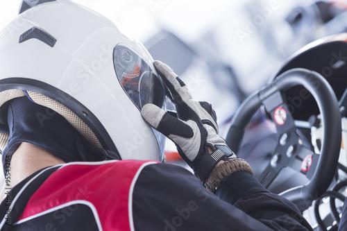 Fotografia gokart racer ready for race