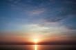Закат солнца на Черном море. Россия, курорт Сочи