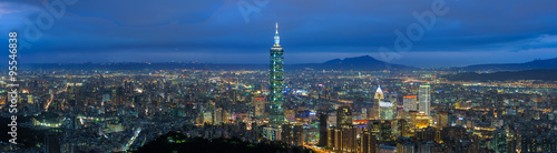 Photo  Night scene of Taipei city