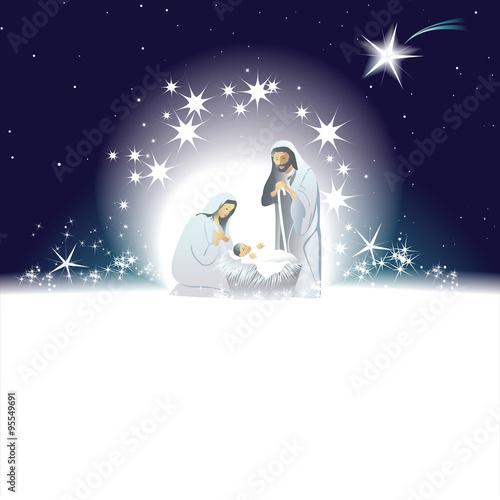 Fotografia Nativity scene with Holy Family