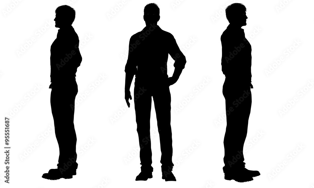 Fototapety, obrazy: silhouettes of a men