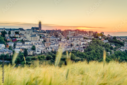 Sunset in Rodez, France Canvas Print