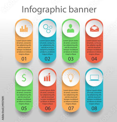 Fototapeta Moden infographics banner obraz na płótnie