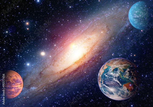 Fotografering  Astrology astronomy earth outer space solar system mars planet milky way galaxy