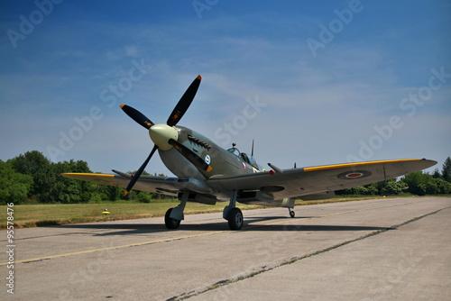 Stampa su Tela Spitfire static prezentation on airshow