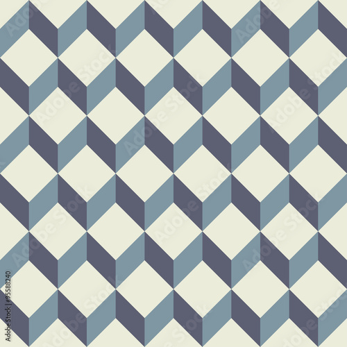 Vector Modern Seamless Colorful Geometry Square Pattern Color Blue Abstract Geometric Background Trendy Multicolored Print Retro Texture Hipster Fashion Design Buy This Stock Vector And Explore Similar Vectors At Adobe Stock