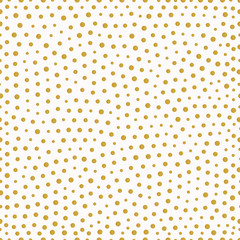 seamless pattern with gold painted dots