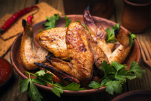 Baked Chicken Wings In The Ove...