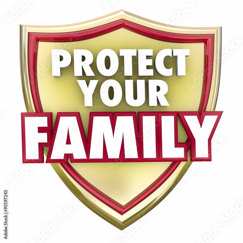 Fotografering  Protect Your Family Gold Shield Home Security Safety