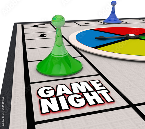 Game Night Family Time Fun Competition Board Pieces Tablou Canvas