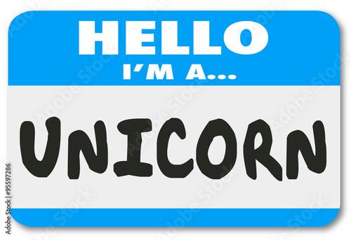 Photo  Hello I Am a Unicorn Rare Uncommon Great Worker