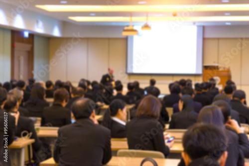 Foto  Unschärfe der Business-Konferenz und Präsentation in der Konferenz h