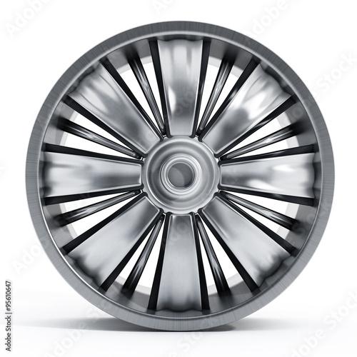 Fotografie, Obraz  Isolated car wheel